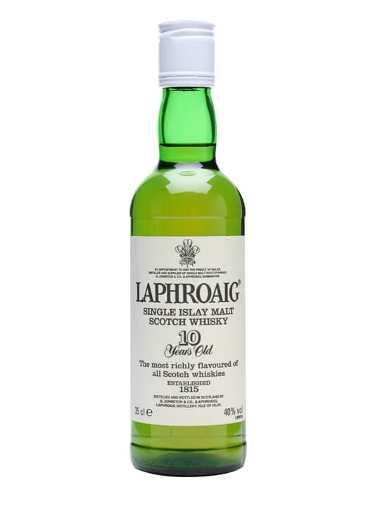 Laphroaig 10 Year Old / Bot.1990s / Post Warrant Islay Whisky