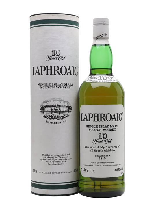 Laphroaig 10 Year Old / Bot.1990s / Pre Royal Warrant Islay Whisky