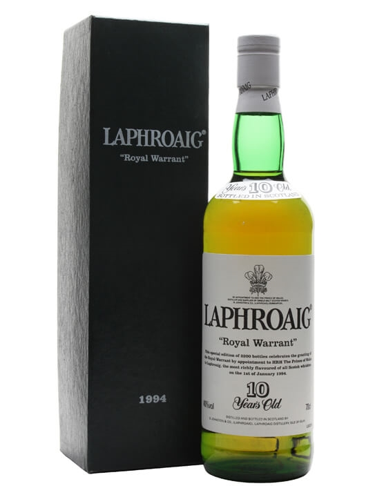 Laphroaig 10 Year Old Royal Warrant Islay Single Malt Scotch Whisky
