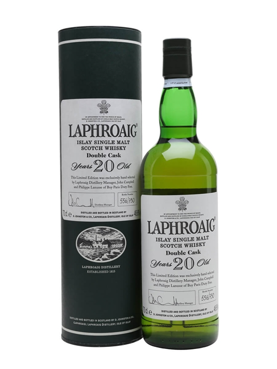 Laphroaig 20 Year Old Double Cask Islay Single Malt Scotch Whisky