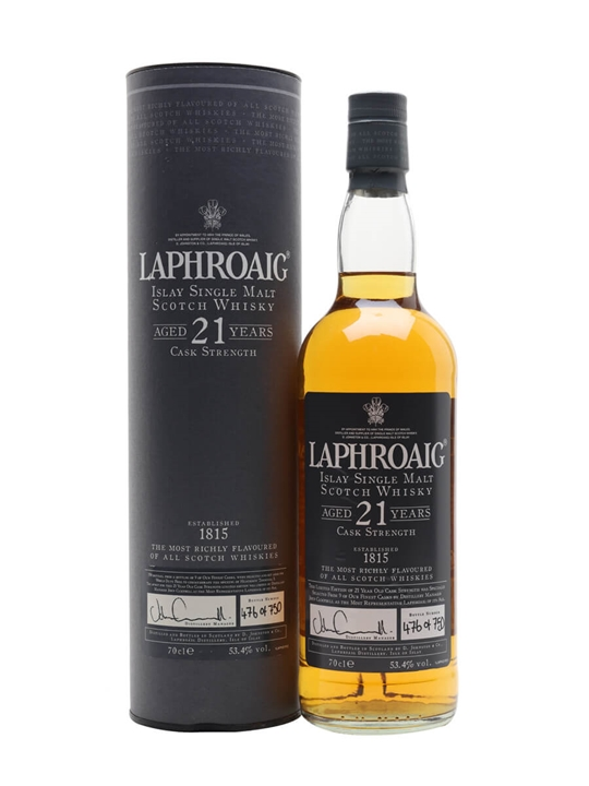 Laphroaig 21 Year Old Islay Single Malt Scotch Whisky