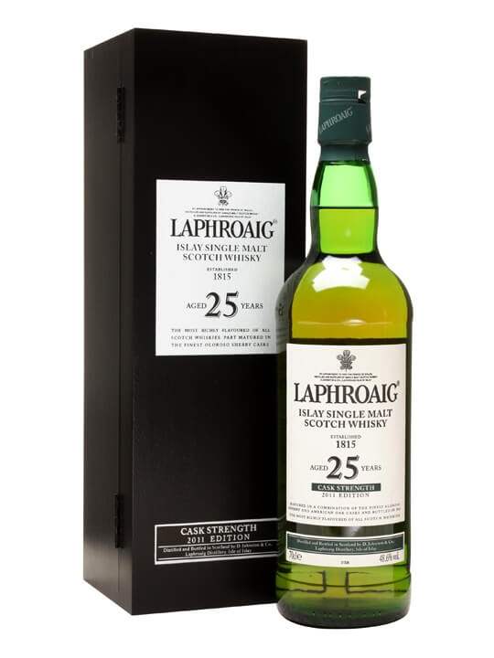 Laphroaig 25 Year Old / Cask Strength Islay Single Malt Scotch Whisky