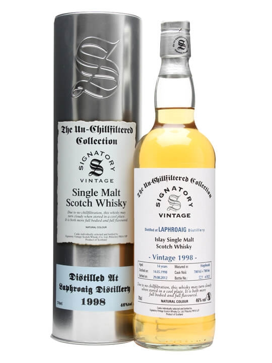 Laphroaig 1998 / 14 Year Old / Casks #700165+6 / Signatory Islay Whisky