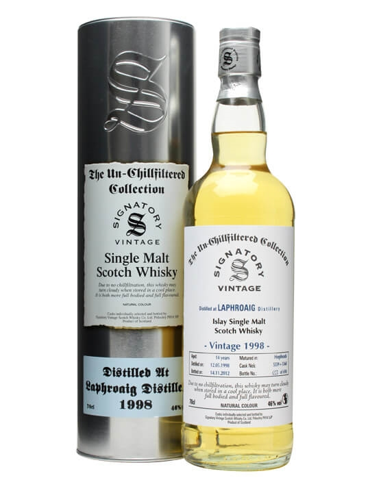 Laphroaig 1998 / 14 Year Old / Cask #5559+60 / Signatory Islay Whisky