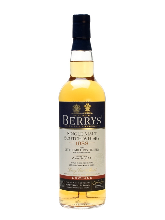 Littlemill 1988/ 24 Year Old / Cask #32 / Berry Brothers Lowland Whisky