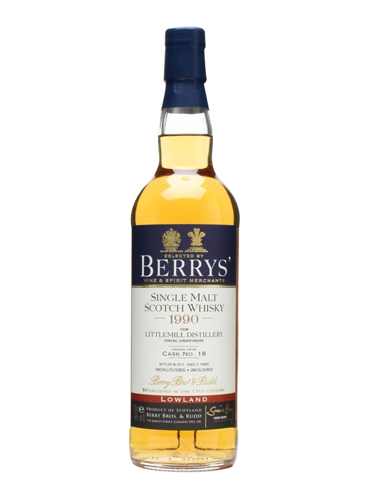 Littlemill 1990 / 21 Year Old / Cask #18 / Berry Bros & Rudd Lowland Whisky