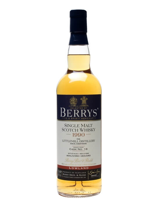 Littlemill 1990 / 22 Year Old / Cask #16 / Berry Brothers Lowland Whisky