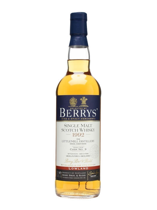 Littlemill 1992 / 20 Year Old / Cask #9 / Berry Bros & Rudd Lowland Whisky