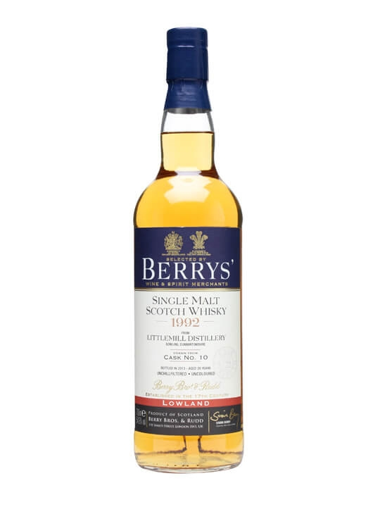 Littlemill 1992 / 20 Year Old / Cask #10 / Berry Bros & Rudd Lowland Whisky
