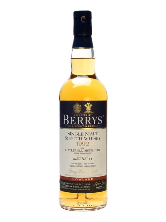 Littlemill 1992 / 20 Year Old / Cask #11 / Berry Brothers Lowland Whisky