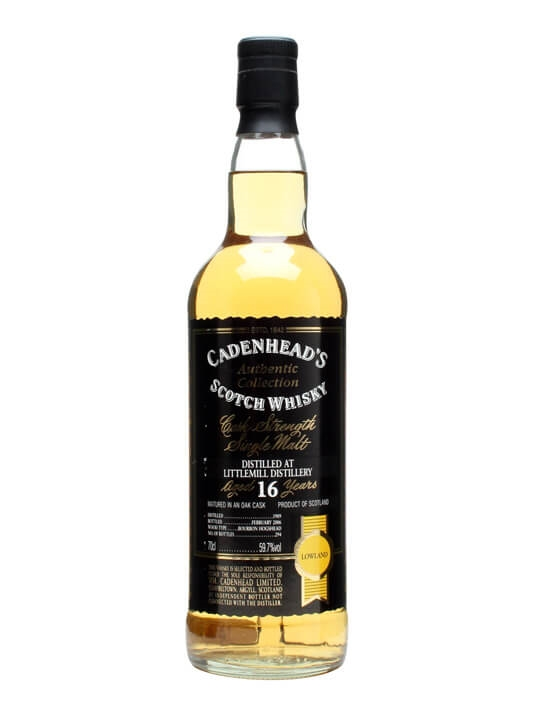 Littlemill 1989 / 16 Year Old / Cadenhead's Lowland Whisky