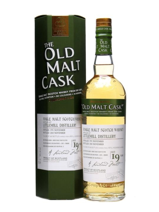 Littlemill 1991 / 19 Year Old / Old Malt Cask #6552 Lowland Whisky