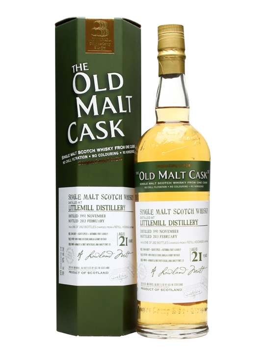 Littlemill 1991 / 21 Year Old / Old Malt Cask #9443 Lowland Whisky