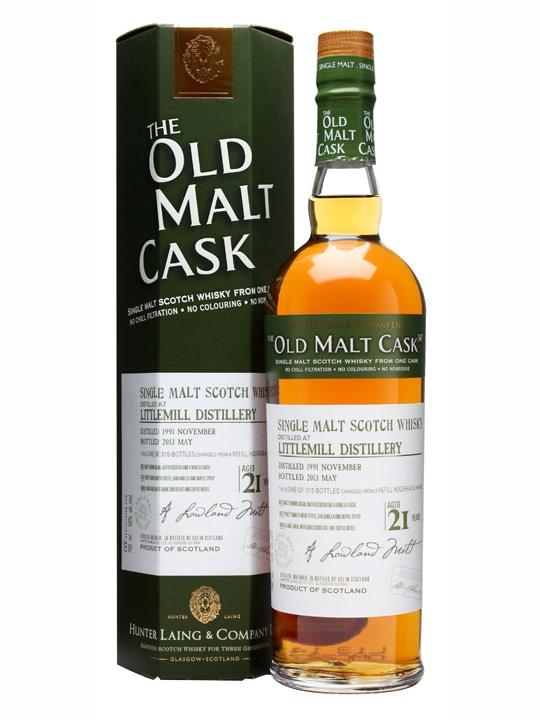 Littlemill 1991 / 21 Year Old / Cask #9822 / Old Malt Cask Lowland Whisky