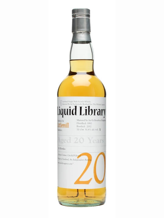 Littlemill 1992 / 20 Year Old / Liquid Library Lowland Whisky