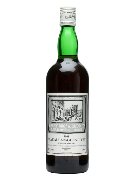 Macallan-glenlivet 1961 / Berry Bros & Rudd Speyside Whisky