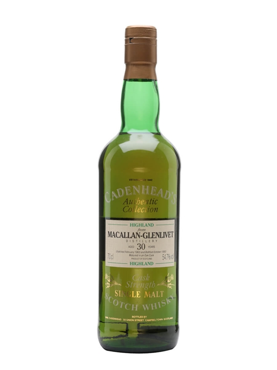 Macallan 1963 / 30 Year Old / Cadenhead's Speyside Whisky
