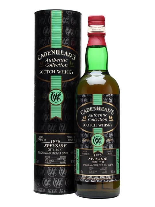 Macallan-glenlivet 1976 / 23 Year Old / Cadenhead's Speyside Whisky