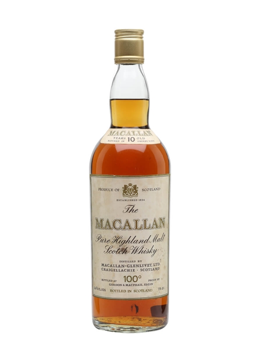 Macallan 10 Year Old / 100 Proof / Bot.1970s Speyside Whisky