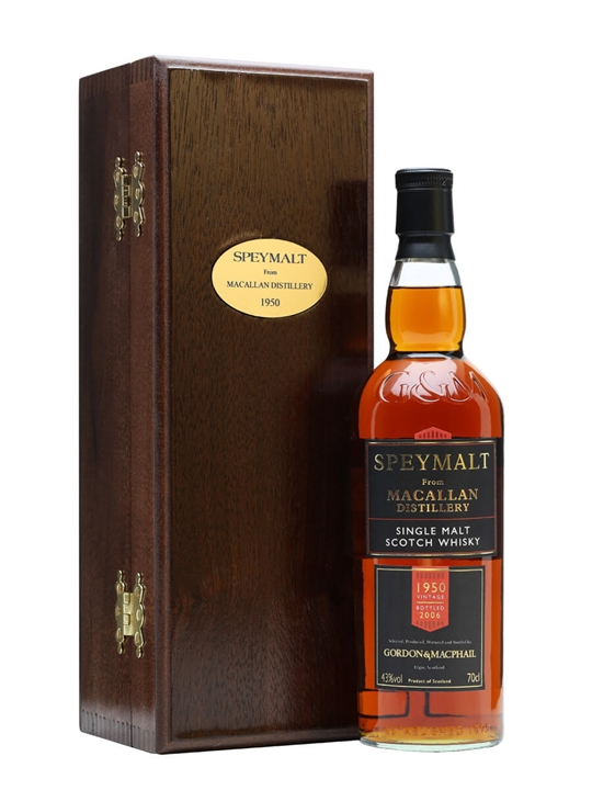 Macallan 1950 / Speymalt / Gordon & Macphail Speyside Whisky