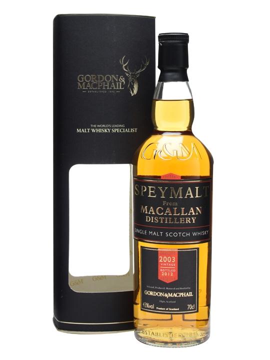Macallan 2003 / Speymalt / Gordon & Macphail Speyside Whisky