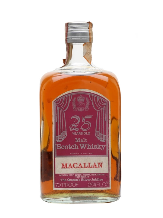 Macallan 25 Year Old / Silver Jubilee Speyside Whisky