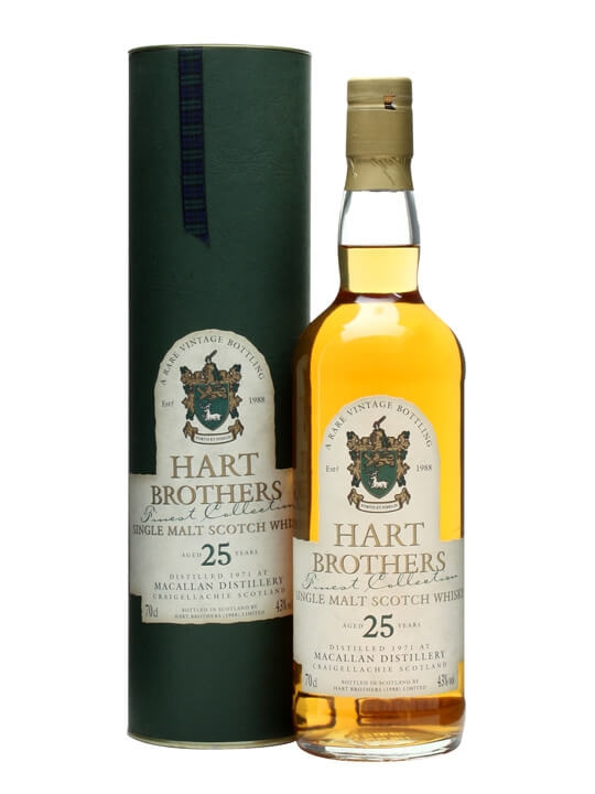 Macallan 1971 / 25 Year Old / Hart Brothers Speyside Whisky