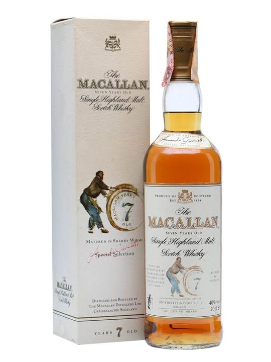 Macallan 7 Year Old / Bot.1990s Speyside Single Malt Scotch Whisky
