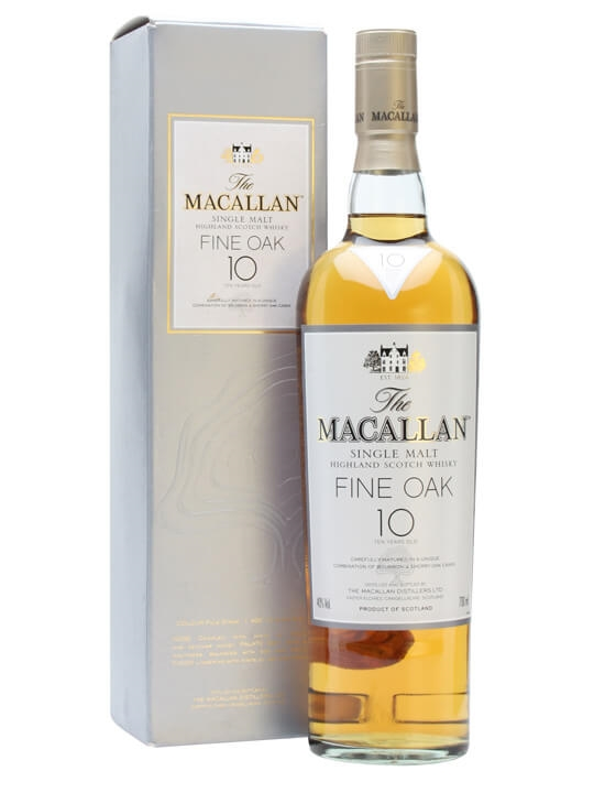 Macallan 10 Year Old Fine Oak Speyside Single Malt Scotch Whisky