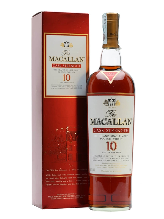 Macallan 10 Year Old / Cask Strength Speyside Whisky