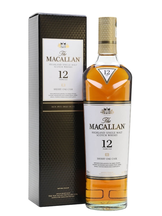 Macallan 12 Year Old / Sherry Oak Speyside Single Malt Scotch Whisky