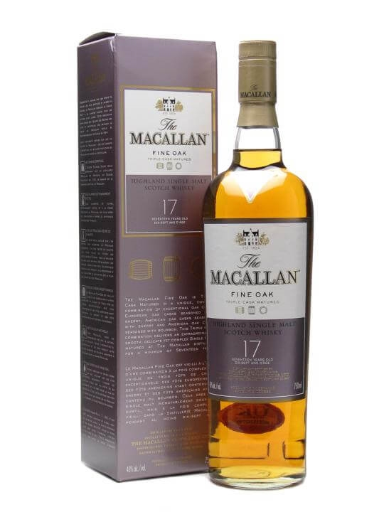 Macallan 17 Year Old Fine Oak Speyside Single Malt Scotch Whisky