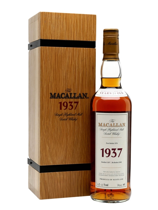 Macallan 1937 / 37 Year Old / Fine & Rare Speyside Whisky