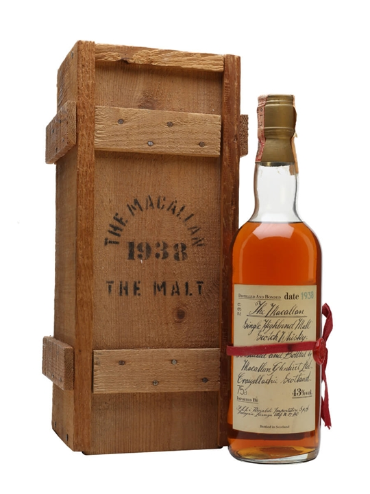 Macallan 1938 Speyside Single Malt Scotch Whisky
