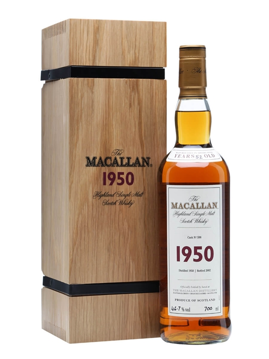 Macallan 1950 / 52 Year Old / Fine & Rare Cask #598 Speyside Whisky