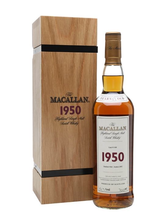 Macallan 1950 / 52 Year Old / Fine & Rare Cask #600 Speyside Whisky
