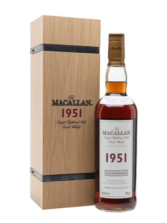 Macallan 1951 / 50 Year Old Speyside Single Malt Scotch Whisky