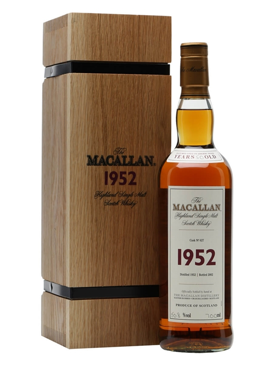 Macallan 1952 / 50 Year Old / Fine & Rare #627 Speyside Whisky