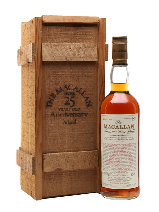 Macallan 1962 / 25 Year Old Speyside Single Malt Scotch Whisky