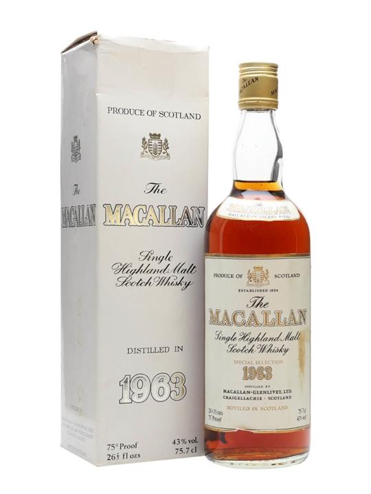 Macallan 1963 / Bot.1970s Speyside Single Malt Scotch Whisky