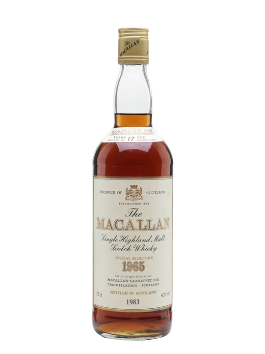 Macallan 1965 / 17 Year Old Speyside Single Malt Scotch Whisky