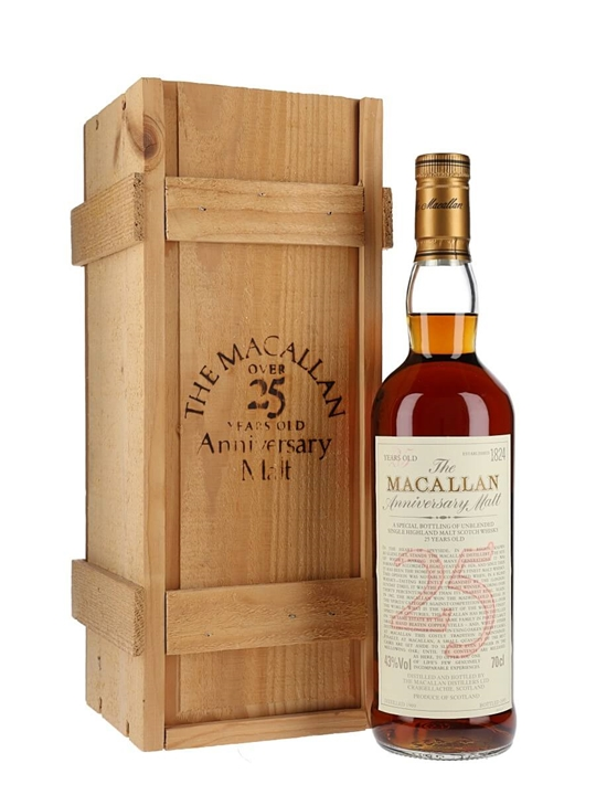 Macallan 1969 / 25 Year Old / Anniversary Malt Speyside Whisky