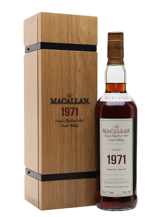 Macallan 1971 / 30 Year Old / Fine & Rare Cask #4280 Speyside Whisky