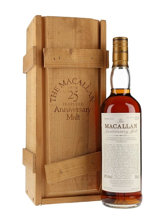 Macallan 1974 / 25 Year Old Speyside Single Malt Scotch Whisky