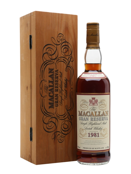 Macallan 1981 / Gran Reserva Speyside Single Malt Scotch Whisky