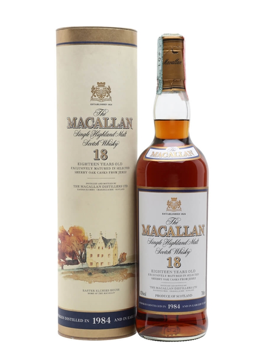 Macallan 1984 / 18 Year Old / Vintage Label Speyside Whisky