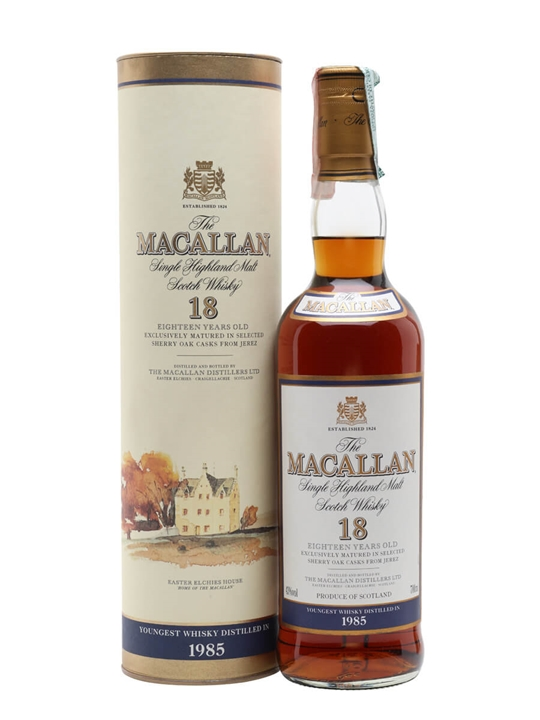 Macallan 1985 / 18 Year Old / Vintage Label Speyside Whisky