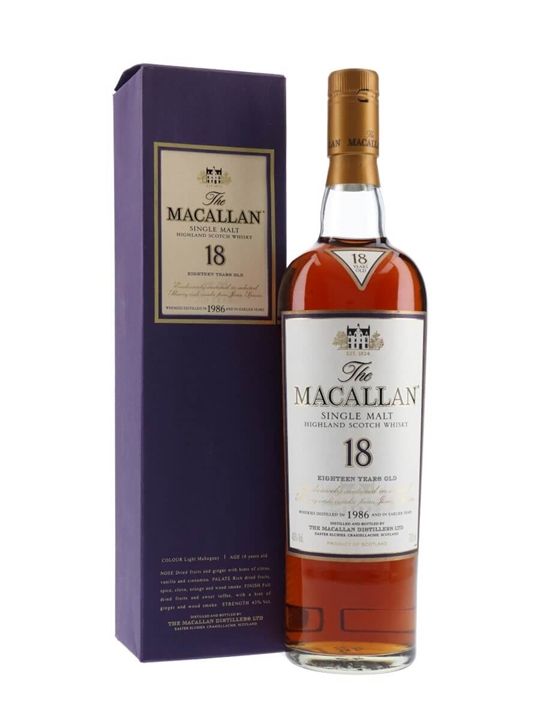 Macallan 1986 / 18 Year Old / Sherry Oak Speyside Whisky