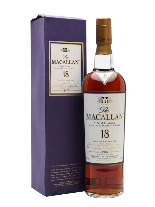 Macallan 1987 / 18 Year Old / Sherry Oak Speyside Whisky