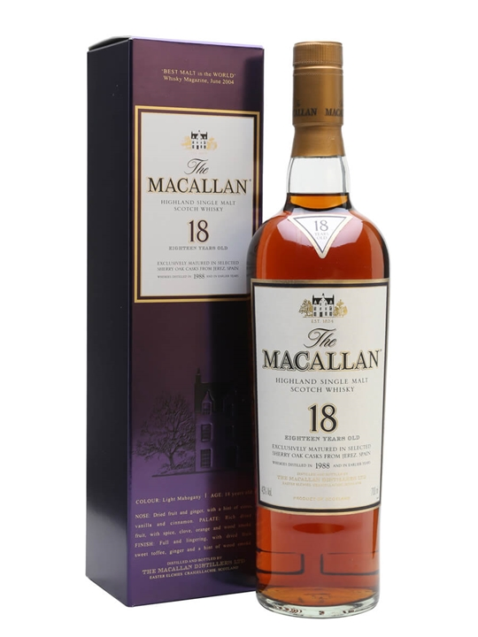 Macallan 1988 / 18 Year Old / Sherry Oak Speyside Whisky